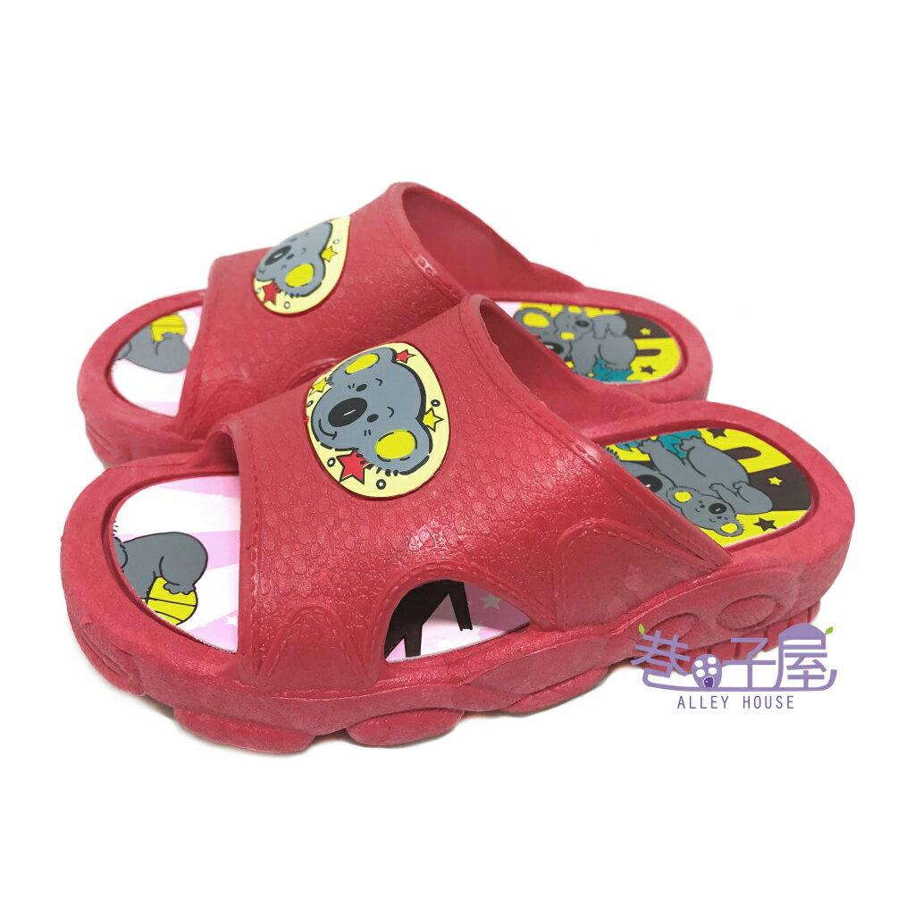 【巷子屋】女童無尾熊一體成型防水拖鞋 MIT台灣製造 紅色 超值價$80