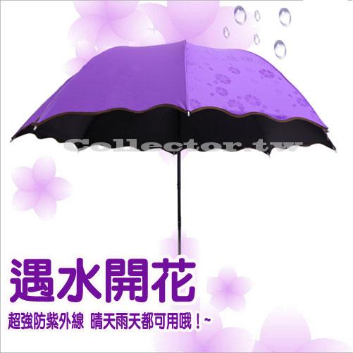 【F16113001】遇水開花變色晴雨傘 防曬防紫外線~雨天變花色~美美晴天雨天必備款~