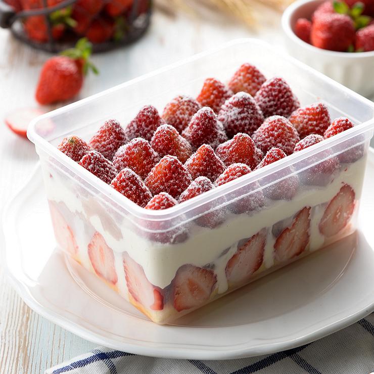 超人氣團購美食/辦公室最愛/草莓爆多【天使】便當/盒子蛋糕/下午茶首選   600克左右