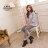格子舖*【KW2191】MIT台灣製 時尚流行金屬扣環 質感皮革 拉鍊粗高跟短靴 馬丁靴 2色 1