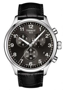 TISSOT天梭表T1166171605700韻馳系列經典石英計時腕錶黑45mm