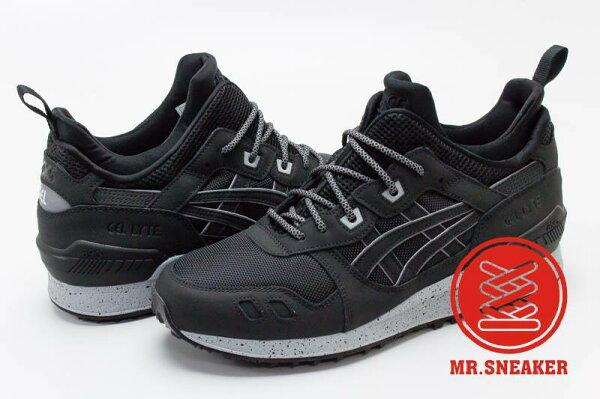 ☆Mr.Sneaker☆ASICSTigerGEL-LYTEMT復古跑鞋襪套式分裂式鞋舌包覆穩定緩震中底男款黑灰
