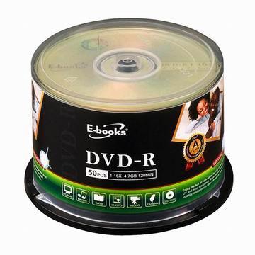 【迪特軍3C】E-books 國際DVD-R16X E-MDD030 100%世界第一大廠中環製造生產 相容於各式DVD碟機與燒錄器