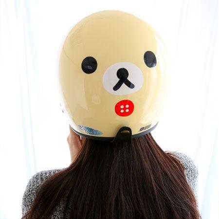 正版拉拉熊全罩安全帽 Rilakkuma 懶懶熊 牛奶熊 機車安全帽 復古碗公帽 安全帽 台灣製 標準尺寸【B060755】