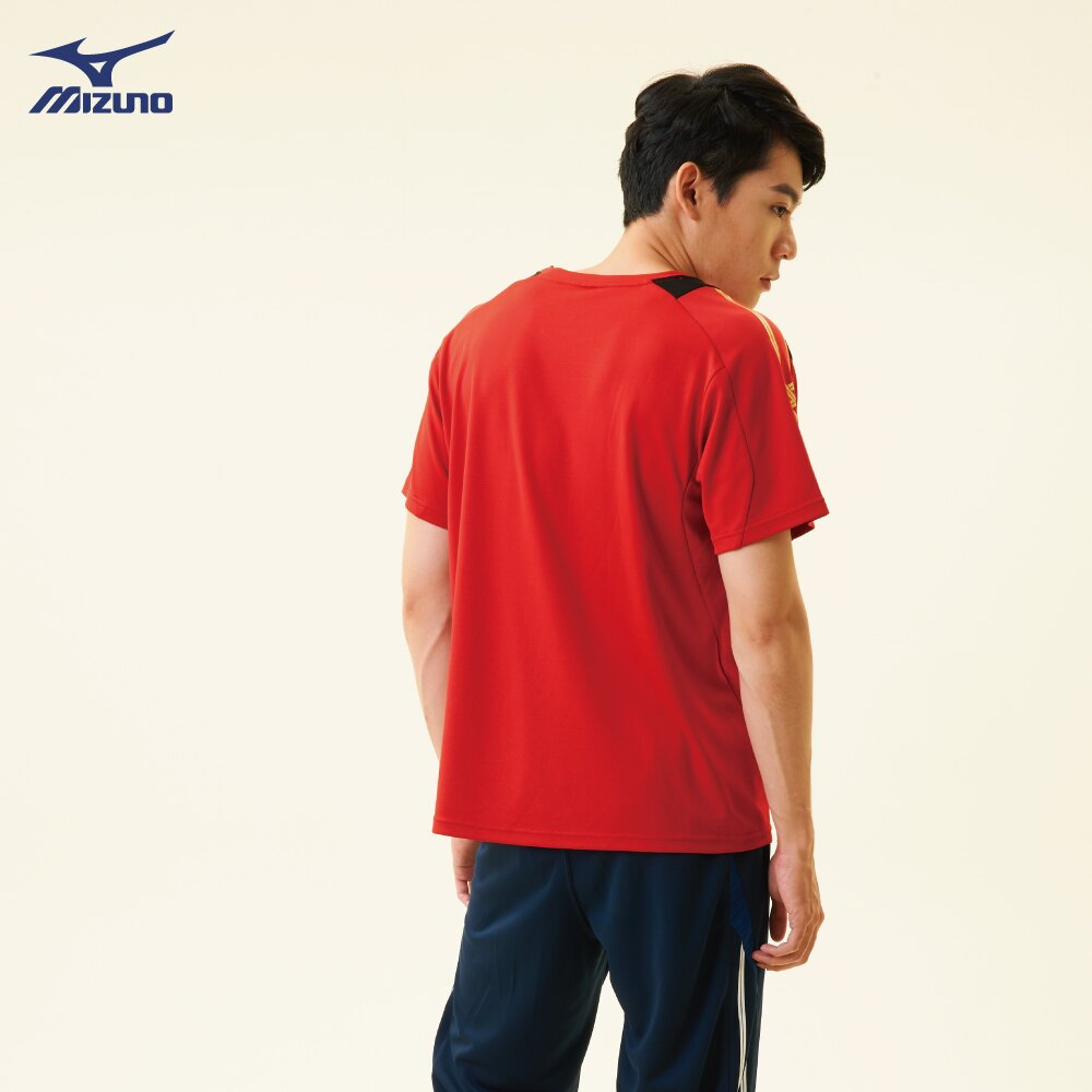32TA800362(紅)抗紫外線吸汗快乾材質 男短袖T恤【美津濃MIZUNO】 1