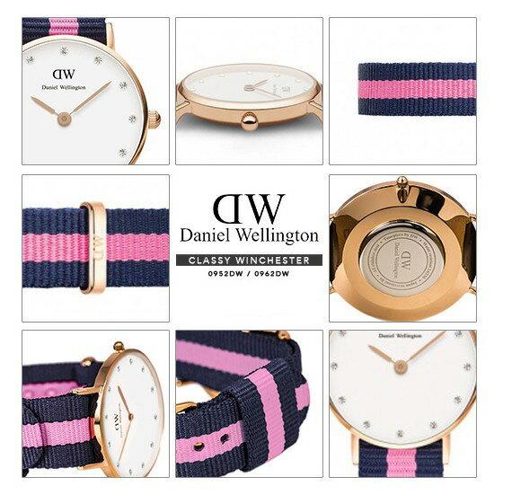 瑞典正品代購 Daniel Wellington 0952DW  玫瑰金 尼龍 帆布錶帶 女錶手錶腕錶 26MM 4