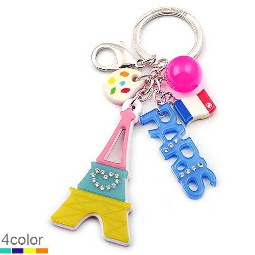 BHJ169-法國品牌Grain de Beaute 施華洛世奇晶鑽可愛巴黎鐵塔吊飾 鑰匙圈【韓國製】Aznavour