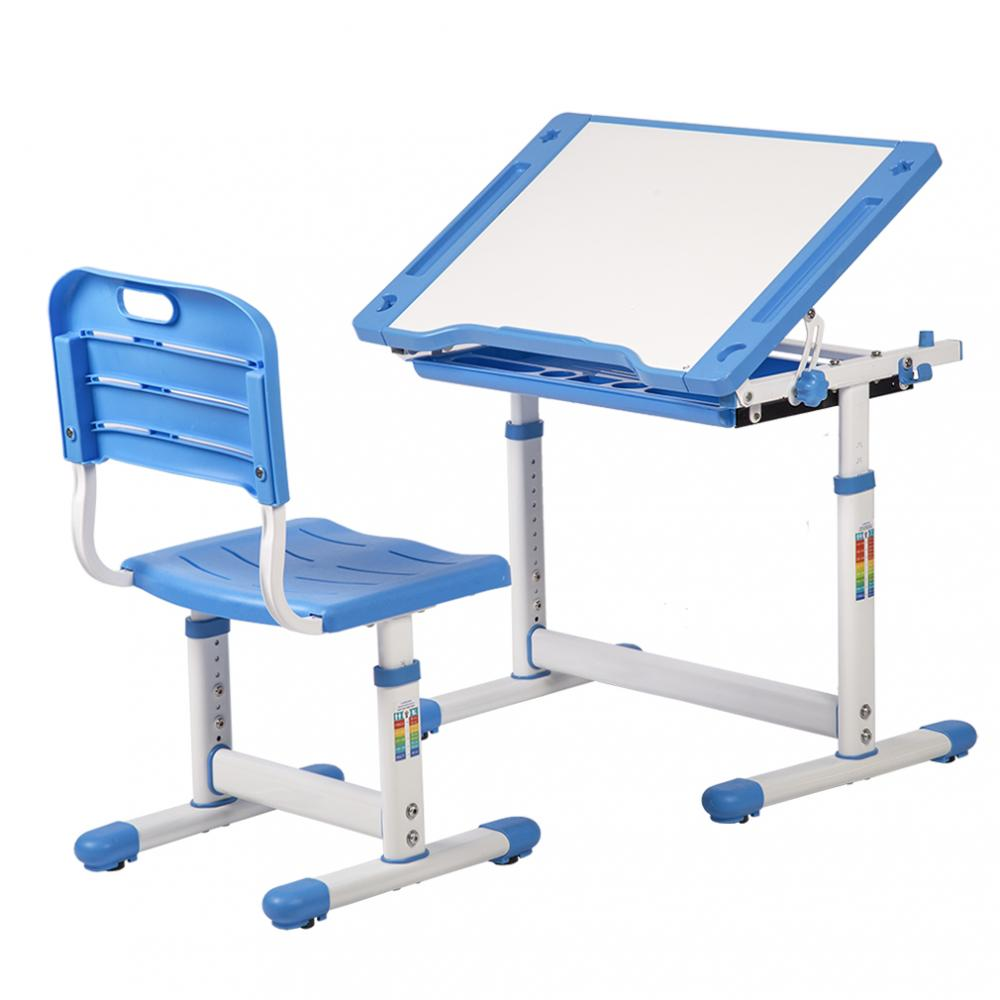 Blue Adjustable Childrenu0027s Desk Chair Set Child Study Desk Kids Study Table XLQ 1  sc 1 st  Rakuten.com & Factory Direct: Blue Adjustable Childrenu0027s Desk Chair Set Child ...