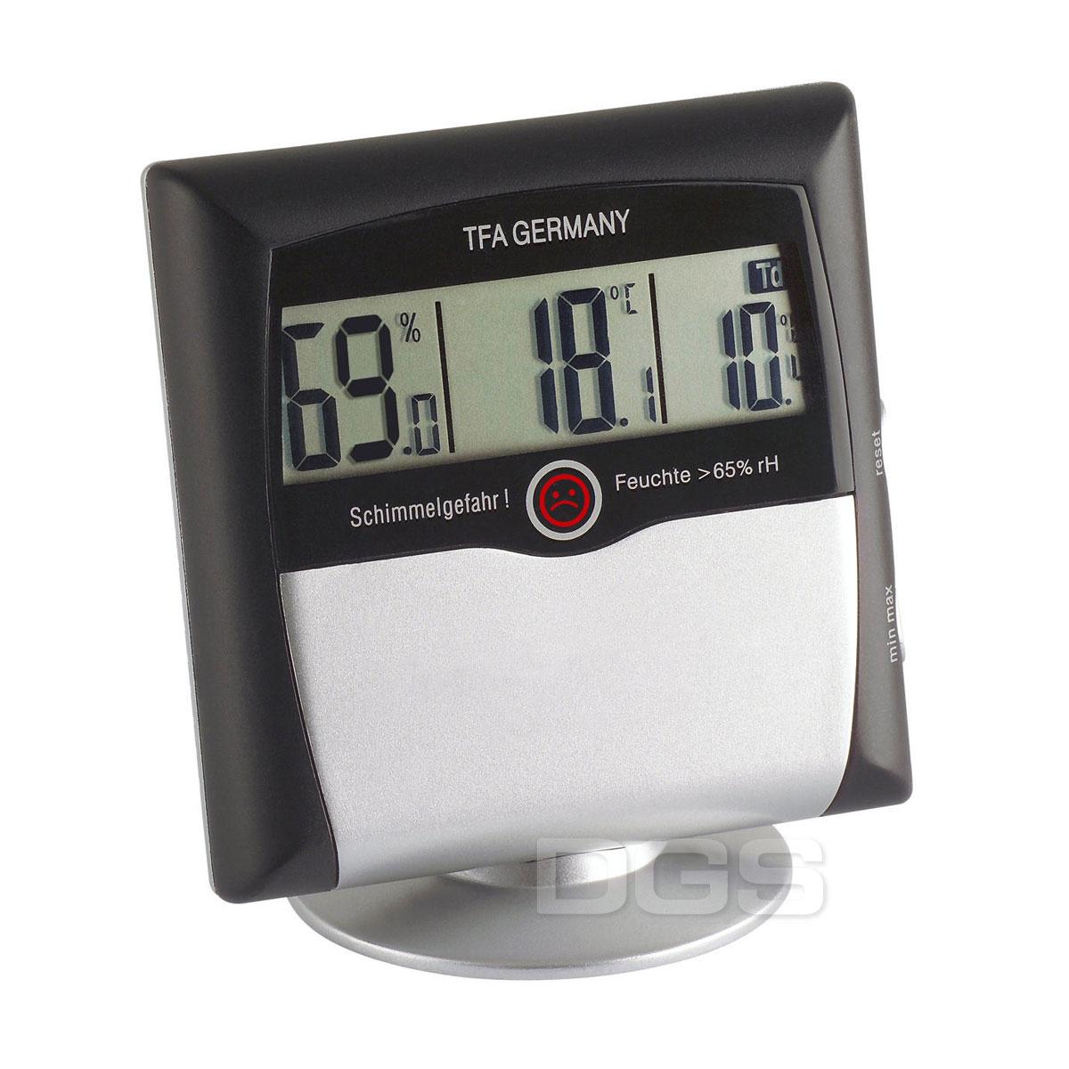 《TFA》數字式溫濕度舒適度計 Hi/Lo Memory Thermo-Hygrometer