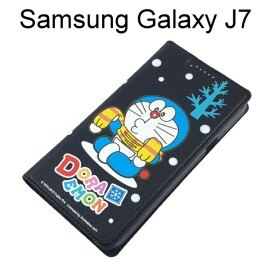 哆啦A夢皮套 [下雪] Samsung J700F Galaxy J7 小叮噹【台灣正版授權】