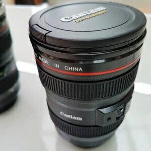 美麗大街【CP106010407】B款 單眼相機鏡頭杯 新款附杯蓋