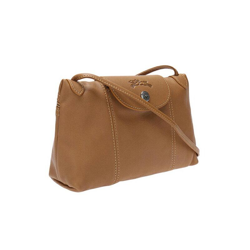 LONGCHAMP 1061 737 116 女款女包羊皮單肩斜挎包自然色棕色 3