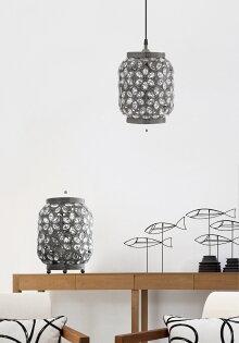 青古銅花瓣紋桌燈-BNL00070(開運發財燈)