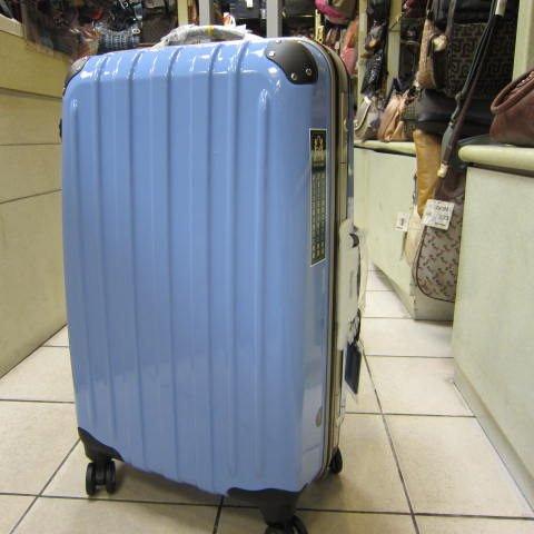 ~雪黛屋~18NINO81美國24吋ABS+PC硬殼拉桿行李箱 8大超大加寬輪設計360度旋轉輪#2028 海洋藍