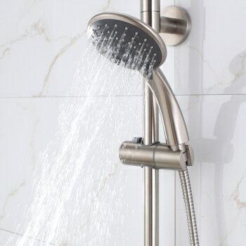 【帝鋼衛浴】304不鏽鋼單把大淋浴花灑(經濟套裝)TSH-0113 2