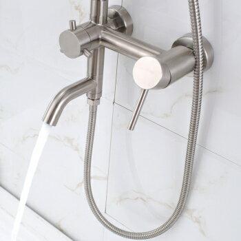 【帝鋼衛浴】304不鏽鋼單把大淋浴花灑(經濟套裝)TSH-0113 3