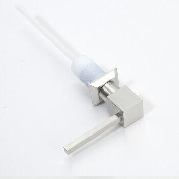 【帝鋼衛浴】304不鏽鋼方頭半剛皂液器 TBA-0304 2