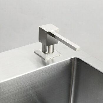 【帝鋼衛浴】304不鏽鋼方頭半剛皂液器 TBA-0304 4