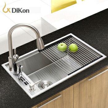 【帝鋼衛浴】304不鏽鋼廚房手工水槽 TSK-0143 0