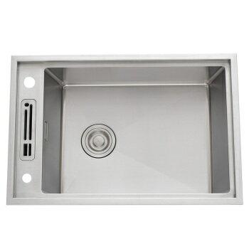 【帝鋼衛浴】304不鏽鋼廚房手工水槽 TSK-0143 1