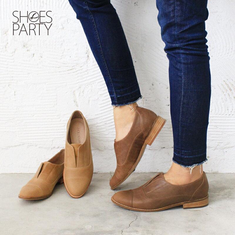 【 C2-17740L 】簡約真皮復古紳士鞋_Shoes Party 0