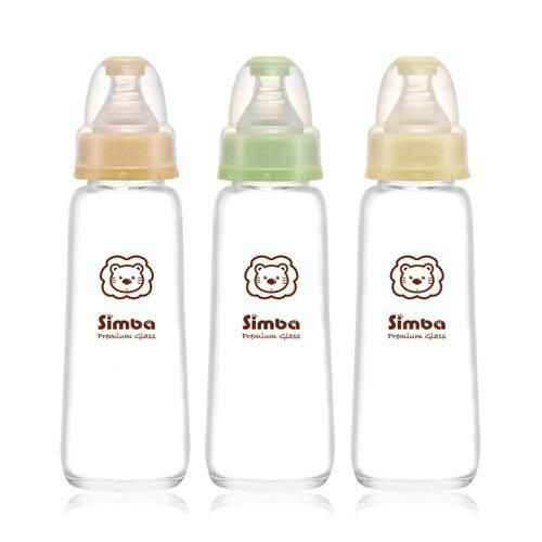 【奇買親子購物網】小獅王辛巴simba 標準玻璃大奶瓶240ml(橘/綠/黃)