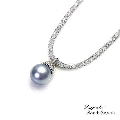 大東山珠寶 燦爛之星 大溪地真多麻銀海水珍珠項鍊 極致閃耀 1