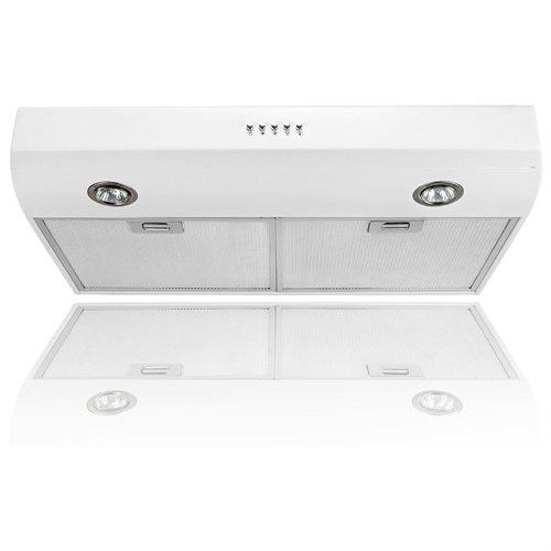 "AKDY 30"" AK-FSD-W0175-WHT Stainless Steel Under Cabinet Range Hood 130CFM 0"