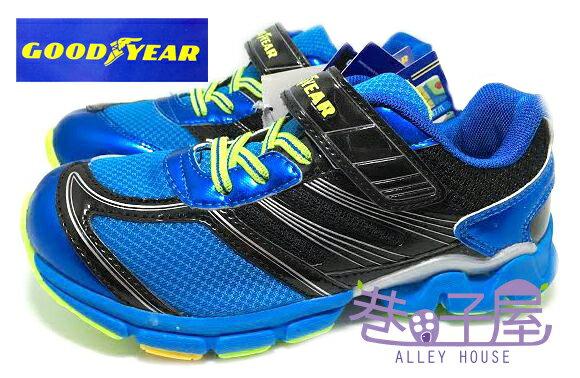 【巷子屋】GOODYEAR固特異 男童超輕量推進力機能大底多功能運動跑鞋 [48406] 黑藍 超值價$498