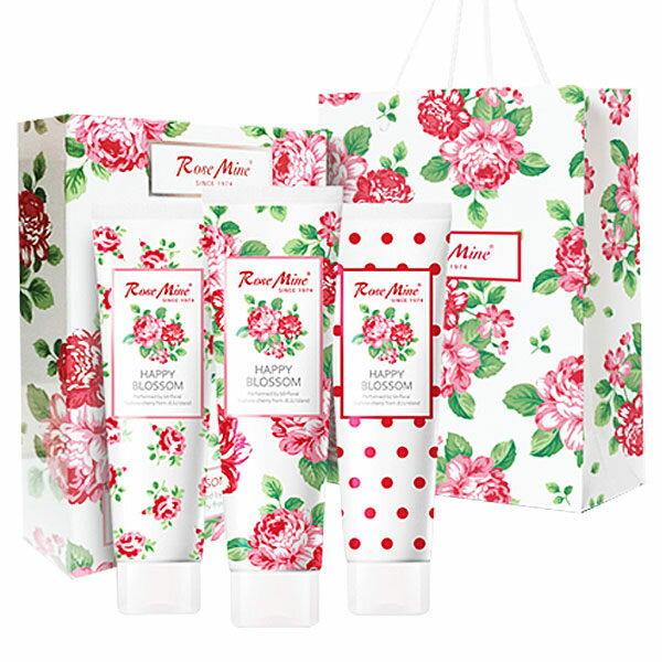 韓國 EVAS 玫瑰香水護手霜殺菌凝膠禮盒3入 附贈提袋 ★BELLE 倍莉小舖★