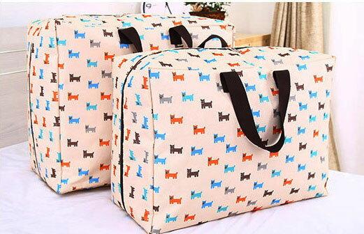 【酷創意】牛津布可水洗棉被收納袋 衣物整理袋 搬家袋 行李袋(中) E140