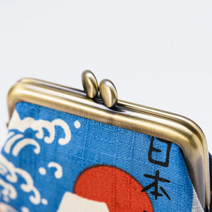 《HARU》富士山角形零錢口金包 日本製 純手工 3