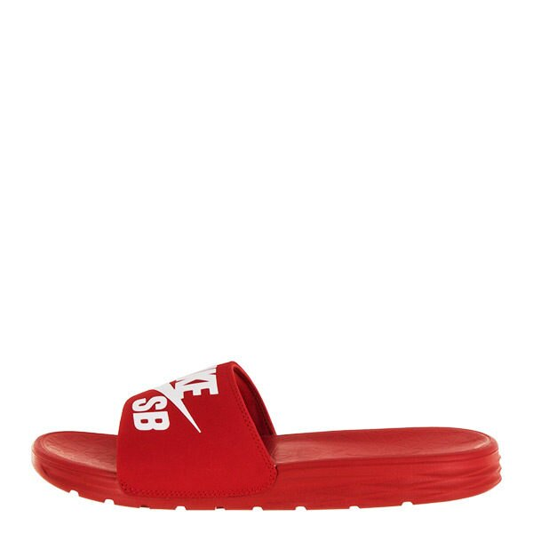 NIKE SB BENASSI SOLARSOFT 男鞋 女鞋 拖鞋 軟墊 休閒 紅 白 【運動世界】 840067-601