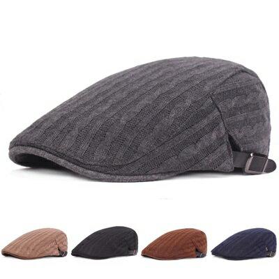 貝雷帽鴨舌帽-針織毛線純色簡約男女帽子5色73tv208【獨家進口】【米蘭精品】