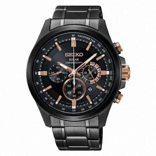 SEIKOCriteria時時刻刻三眼太陽能時尚腕錶V175-0ER0SDSSC695P1