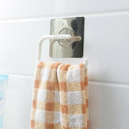 捲筒衛生紙架 擦手巾架 毛巾架 無痕貼式【SV7805】快樂生活網