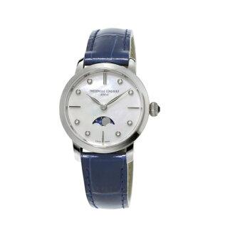 CONSTANT 康斯登/真鑽超薄月相石英腕錶/FC-206MPWD1S6