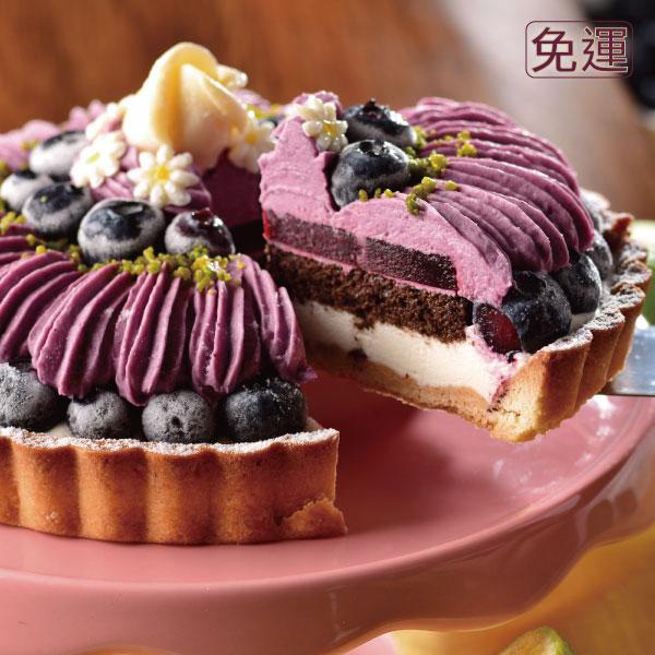 喬伊絲 手作甜品★6吋 莓瑰花紗★以法國藍莓果泥X師傅獨創可爾必思乳酪餡,中層夾帶巧克力海綿蛋糕增添口感,外在以大量藍莓製成的藍莓慕斯畫成蓬鬆嫁紗的樣式, 再放入一顆一顆精心挑選的小藍莓,最後放入一顆癡情的玫瑰花,幸福洋溢。 0