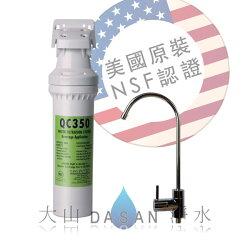 美國水樂 Selecto QC350-ST 長效活性碳淨水器 套裝組合 美國原裝進口 搭載NSF認證鵝頸龍頭★電子票券