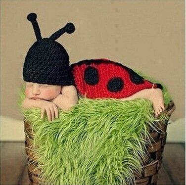 =優生活=新生兒可愛服飾 小瓢蟲 昆蟲造型 寶寶攝影服裝服飾 寶寶滿月百天拍照服 寶寶滿月禮