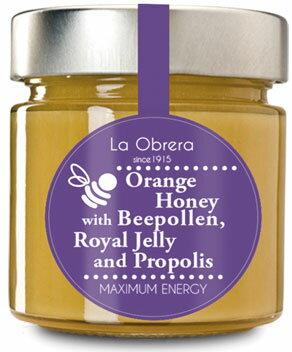 【維樂屋】西班牙原裝進口純蜂蜜 橙蜜含蜂王漿+蜂膠+蜂花粉 300克裝