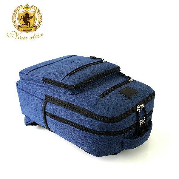 韓風簡約時尚防水雙層拉鍊多口袋後背包包 NEW STAR BK244 6