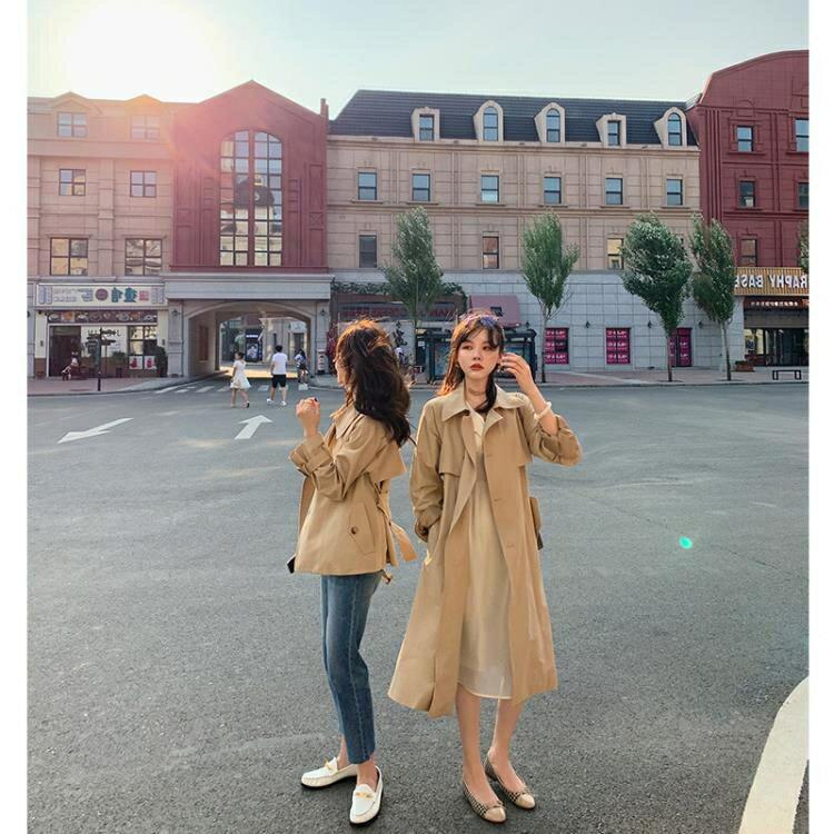 風衣 復古卡其色風衣2020新款中長款韓版小個子百搭秋季外套女裝不挑人