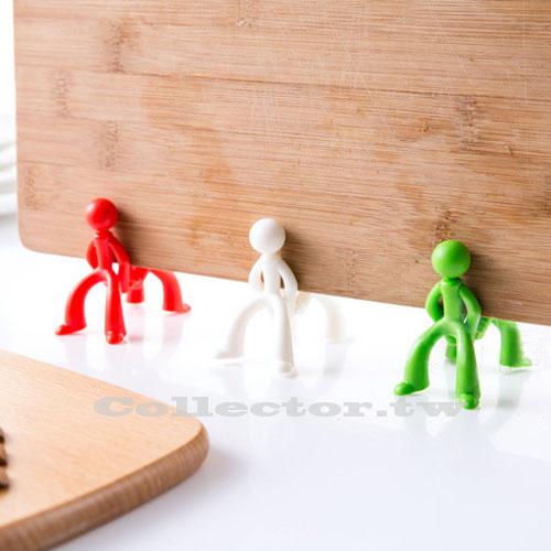 【N16010601】歐式創意小人砧板架 刀架 廚房切菜板防黴支架