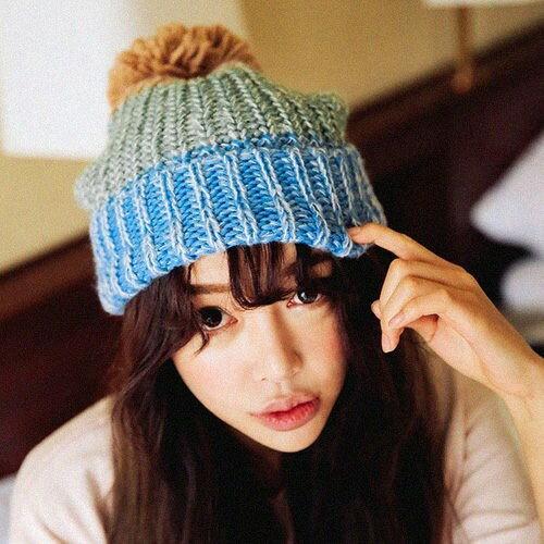 毛球混色毛帽 10152【櫻桃飾品】【10152】