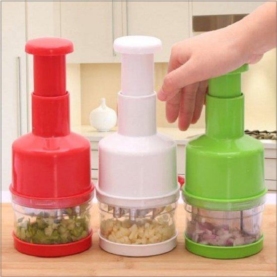♚MYCOLOR♚手壓式不鏽鋼切菜器切蒜泥切洋蔥泥各種食材都可使用絞碎器【L128】