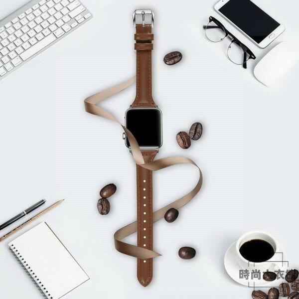 iwatch蘋果皮帶手錶細錶帶適用applewatch3創時代3C 交換禮物 送禮