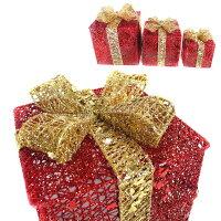 幫家裡聖誕佈置裝飾推薦聖誕裝飾及吊飾到聖誕紅金系金蔥禮物盒擺飾(一組含大中小三入)(可置於聖誕樹下或溫暖角落)YS-XDS016017就在摩達客推薦幫家裡聖誕佈置裝飾