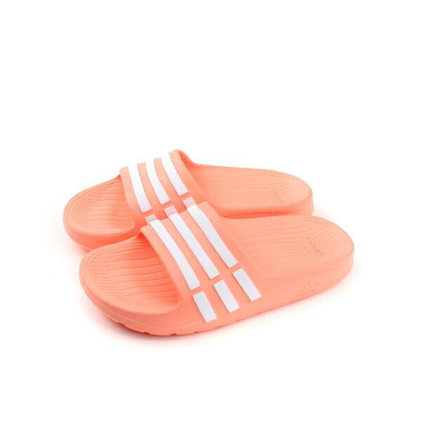 adidasDURAMOSLIDEK拖鞋粉橘色防水童鞋CP9384no533