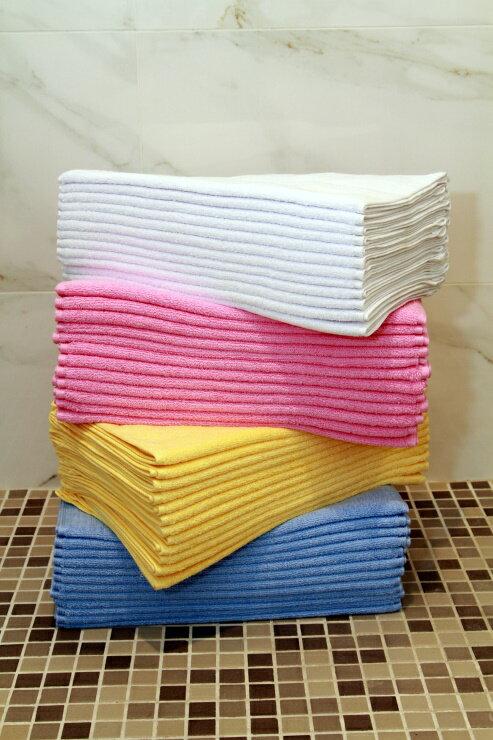 【美冠】MIT 台灣製 100%純棉 星級飯店 素色緹緞毛巾組 (12條/組)